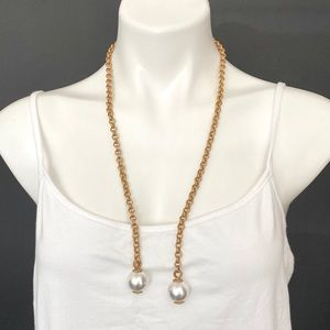 Rachel Zoe Open Necklace Gold and Pearl